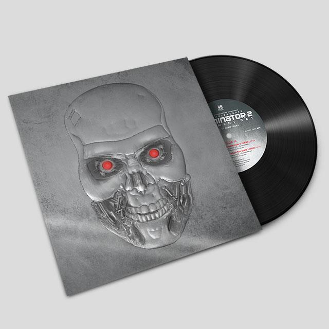 Terminator 2: silver embossed 7 inch vinyl