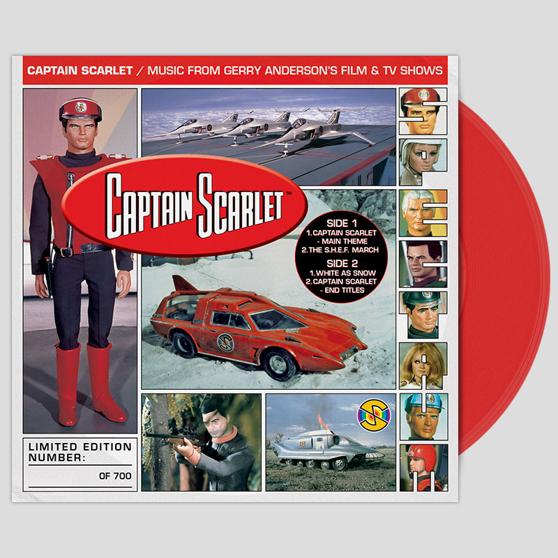 Captain Scarlet 7 inch on red vinyl