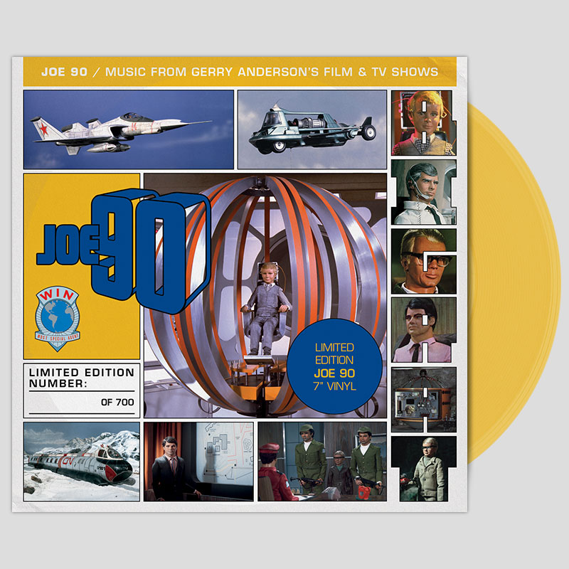 Joe 90 7 inch on yellow vinyl