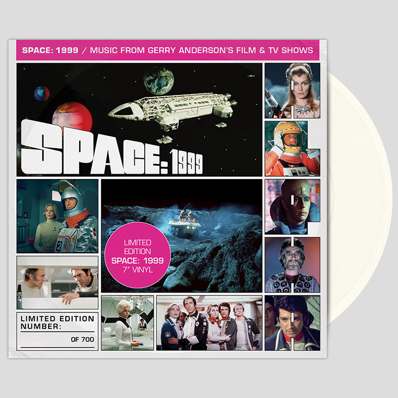 Space 1999 7 inch on white vinyl