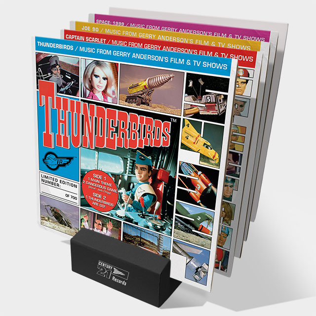 Gerry Anderson 7 inch collection with display stand
