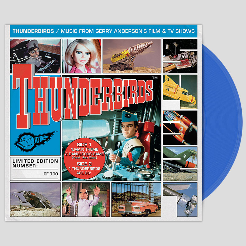 Thunderbirds 7 inch on blue vinyl